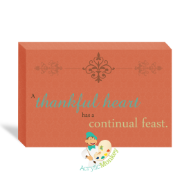 Holiday Canvas Wall Art - Thankful Hearts