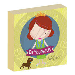 """Be Yourself!"" girl canvas wall art"