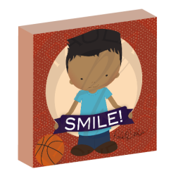 """Smile"" boy canvas wall art"