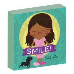 """Smile!"" girl canvas wall art"