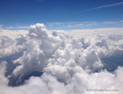 fine art nature photography - clouds at 30,000 feet