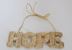 twine wrapped letters - HOPE