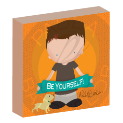 Be Yourself illustrated boy canvas wall art